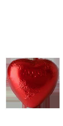 Schokoladenherzen rot 1 St.